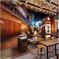 Lcymt カスタム壁画壁画レトロストリート日本風レストラン寿司屋背景壁壁の装飾的な壁紙-120X100Cm