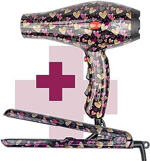 ID Italian Design Lovely Style - Pack Secador + Plancha de Pelo   Estampado Corazones