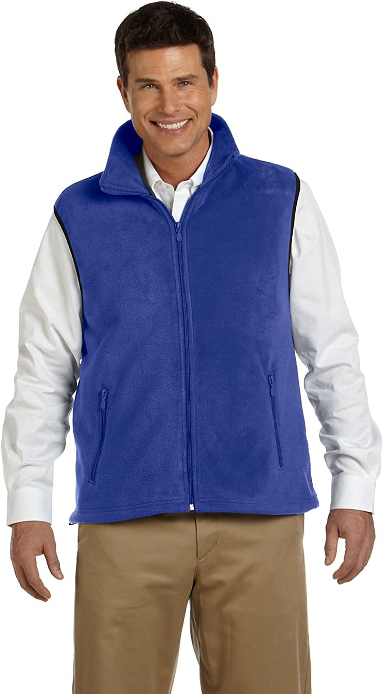 Product of Brand Harriton Adult 8 oz Fleece Vest - True Royal - XL - (Instant Savings of 5% & More)
