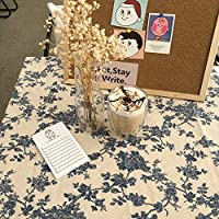 NiNiHome テーブルクロス テーブルカバー 綿/ヴィンテージ花柄 (1枚物) インテリア用品 多用途 耐熱 汚れ防止 手入れ簡単 撮影の背景を飾る (150x150cm)