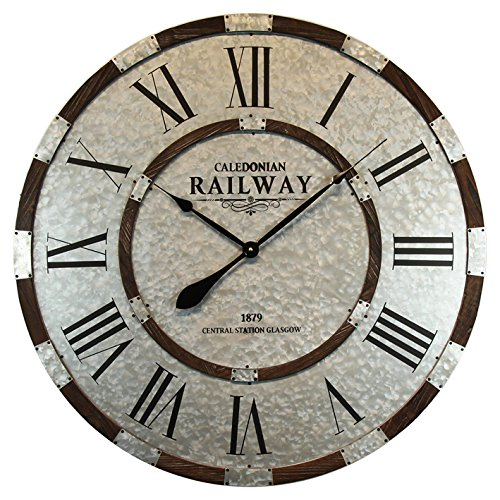 Alice\'s Collection - Grande Reloj de pared – Vintage - Metal , dia 80 cm