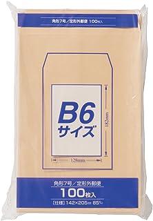 マルアイ 封筒 クラフト封筒 角形7号 B6対応 85g 100枚 PK-Z178