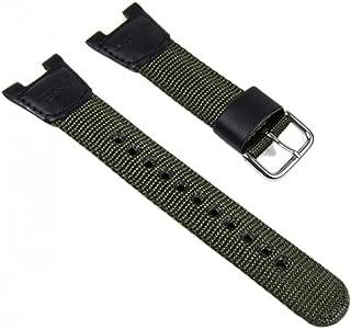 Genuine Casio Watch Band 25mm Green Cloth Leather Strap 10304188 SGW-100B-3V