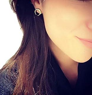 VPbao 1 Pair Women Crescent Moon Shape Ear Stud Earrings Jewellery Set