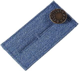 1 Pack Jean Waist Extender Elastic Waist Extender Strong Adjustable Pants Button Easy Fit For Men And Women(Light blue)