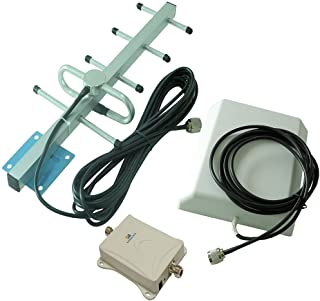 Vee·Box 70dB DCS GSM CDMA WCDMA 850MHz(B5) Cell Phone Signal Booster Amplifier with Outdoor Yagi and Indoor Plate Antennas (850MHz)