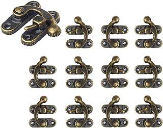 Herrajes cromados para cerrar puertas de cobertizo Armarios Cajas Muebles Cerrojo de metal Cerrojo 65mm Perno de puerta Hebilla de cierre con candado y llave Kongming paquete de 2