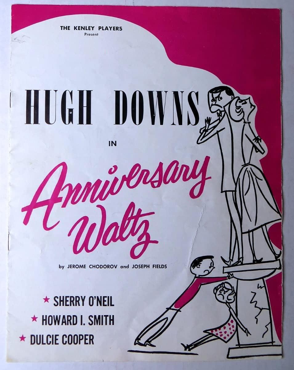 Hugh Downs Signed Autographed Program Anniversary Waltz Long-awaited BAS AA51 half