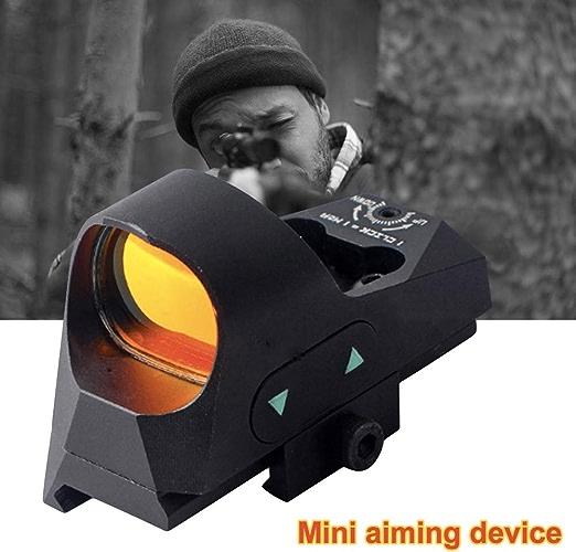 YGQersh Scope, 1x25 Tatical Mini 3 MOA réticule Viseur réflexe à Pois Rouge Portée Picatinny QD Mount
