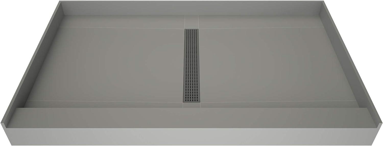 Tile Redi T3648C-SCDNBVZ Shower Pan Center with Dr Mail Tucson Mall order Kit Flashing