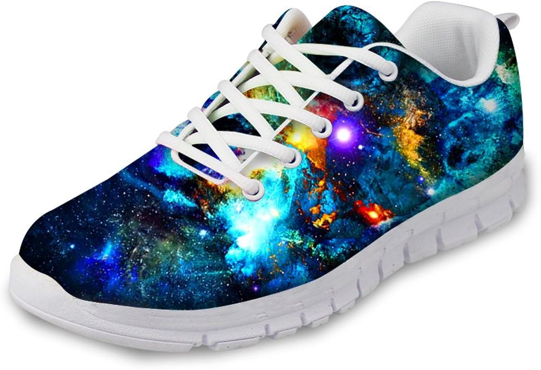 INSTANTARTS Galaxy Fashion Sneaker Sport shoes Women Walking Running Mesh Flat