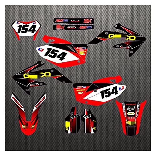 Zhbqcmou CH0331A5-6 personalizados Adhesivos 3M motocicleta etiquetas Gráficos Gráfico de la etiqueta del kit para HONDA CRF250X 2004 2005 2006 2007 2008 2009 2010 2011 2012 2013 2014 2015 2016 2017 2