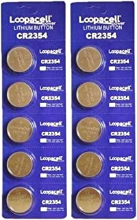 10 New LOOPACELL CR2354 2354 CR 2354 3V Lithium Coin Cell Batteries