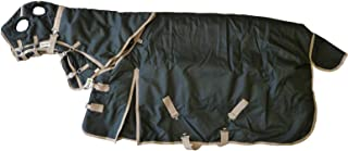 AJ Tack Wholesale 1200D Heavy Weight Waterproof Rip Stop Horse Blanket and Hood Combo