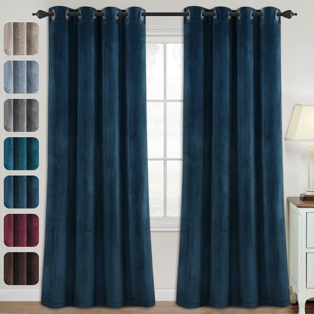 Luxury Spring new work one after Classic another Velvet Curtains for Living Room Darkening 84 Inches