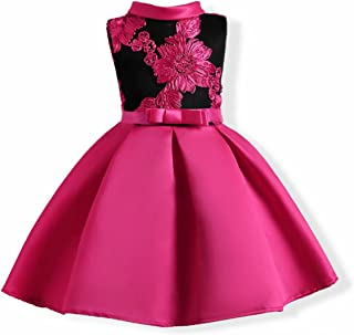 Girl's Flower Pageant Dress Kids Party Embroidery Wedding Dresses