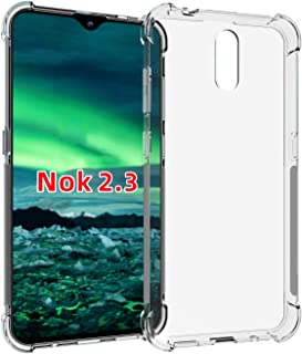 Nokia 2.3 case,PUSHIMEI Soft TPU Crystal Transparent Slim Anti Slip Protective Phone Case Cover for Nokia 2.3(Clear Anti-S...