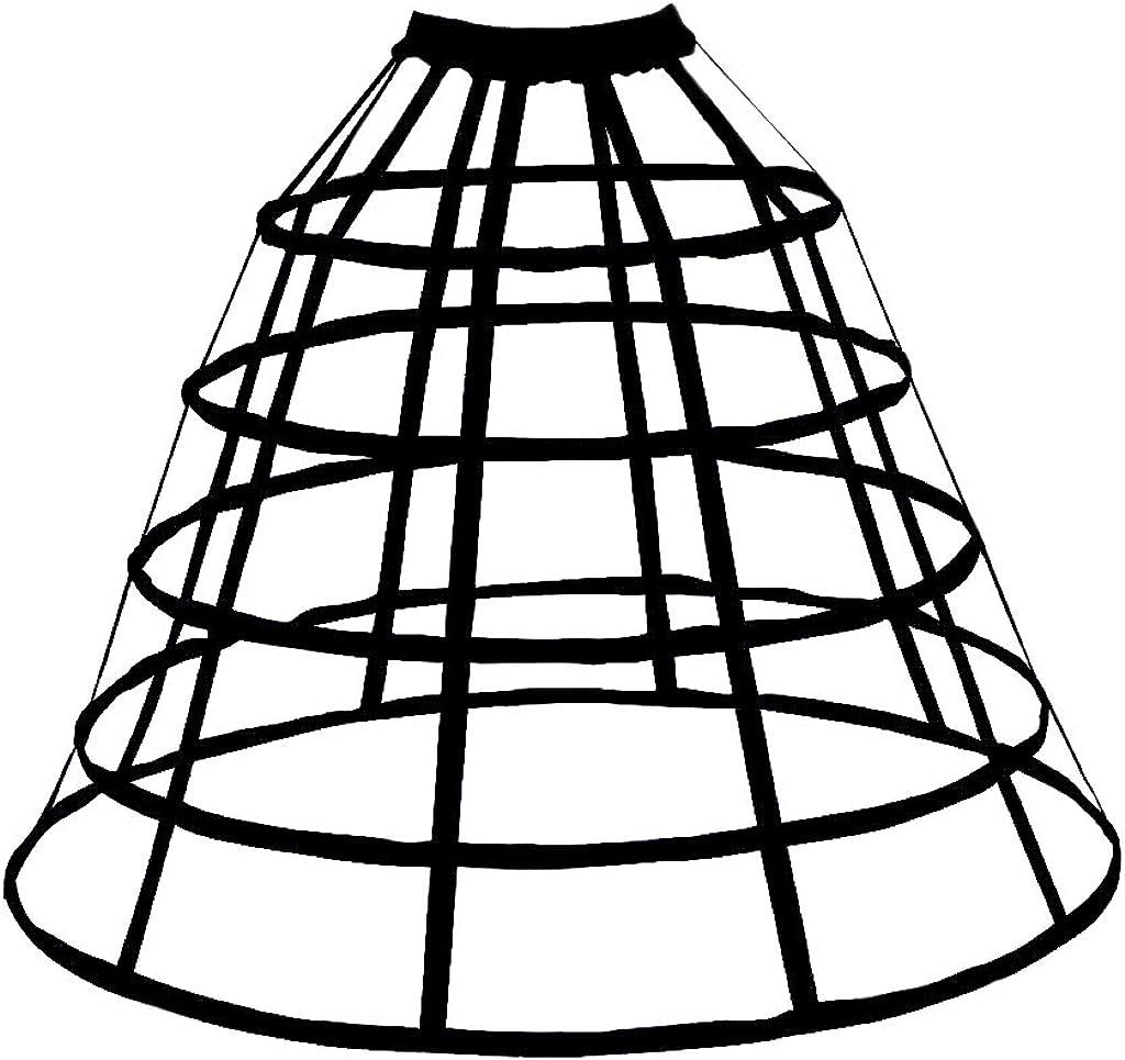 GRACEART Victorian Dress Pannier Hoop Skirt Bustle Cage Skirt