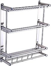 Bathroom Shelf Stainless Steel Towel Rack 3-layer Pendant Storage Rack Wall-mounted Towel Rack Hooked Shower Holder 40/50/...