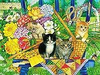 Vefvce 5dDIYダイヤモンド塗装キット動物風景花蝶猫犬クロスステッチモザイクダイヤモンドクリスマスデコレーション家の装飾正方形30×40cm