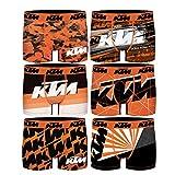 KTM PK1580-M Talla M: Set 5 Boxers Surtidos Microfibra (92% poliéster-8% Elastano) -Multicolor, Pack 5pcs PK1580, Hombre