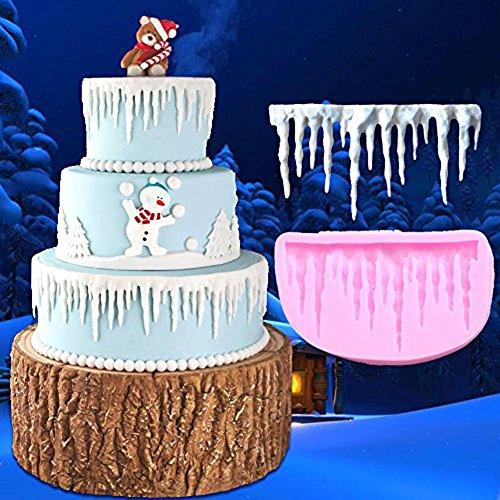Molde de cinta de fondant para tartas, de encaje, para fondant, de silicona, para hacer hielo y curling de hielo, herramienta para decoración de pasteles, de Aixin