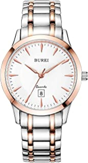 BUREI Women Watches Rose Gold Quartz with Sapphire Crystal Lens Stainless Steel Bracelet Elegant Classical Ladies Watch (Rose Gold)