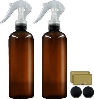 بطری های اسپری پلاستیکی کهربا برای گیاهان ، بطری های اسپری خالی Armaurl 2 Pack 10oz / 300ml برای تمیز کردن محلول ها و مو ، ظرف قابل تعویض برای روغن های اساسی و گیاهان (برچسب ها و درب ها شامل می شود)