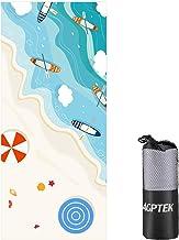 AGPTEK Toalla Playa Microfibra Anti-Arena para Mujer y Hombre, 180x80cm Toalla Deportiva Secado Rápido Absorbente para Deportes, Viajes, Playa, Camping(BT1/ Oceano Azul)