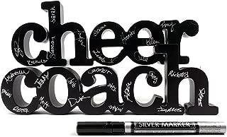 ChalkTalkSPORTS Cheer Coach Wood Words Ready to Autograph | Cheerleading Sign & Decor