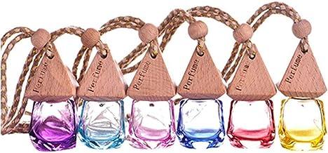 POFET 6 stks 6 ml Lege Parfum Geurverspreider Glas Fles Thuis Auto Opknoping Luchtverfrisser Hanger Multicolor