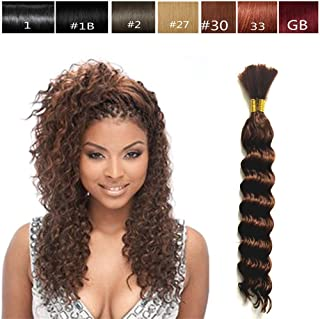 Hot Selling Deep Bulk Braiding Hair, Human Hair Quality, Top Synthetic Fibers, Bulk Hair for Micro Braiding or Crochet Braiding, Length 18