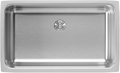 Elkay ELUH2816PD Lustertone Classic Single Bowl Undermount Stainless Steel Sink with Perfect Drain