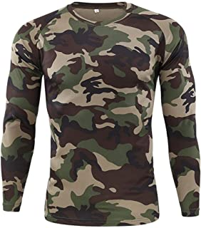 Men's Sport Tops Autumn Camouflage Quick Dry Sweat Long Sleeve Training Shirt