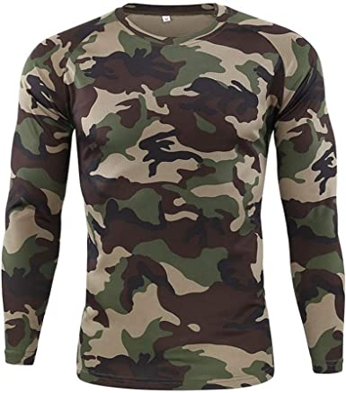 Camiseta Militar Hombre Camisetas Camuflaje Al Aire Libre ...