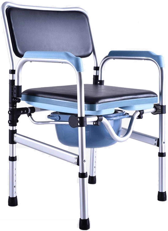 GFYWZ Faltende Kommode über Toiletten-Stuhl Mit Gepolstertem Sitz Und Bad-Stuhl Bewegliche Toiletten-Duschstuhl Für Alten Mann-Schwangeren Frauen-Tpfchen-Sitz