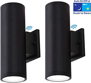 Cloudy Bay 2 Light LED Outdoor Wall Light,Dusk To Dawn Photocell,20W 5000K Day Light,2 Pack