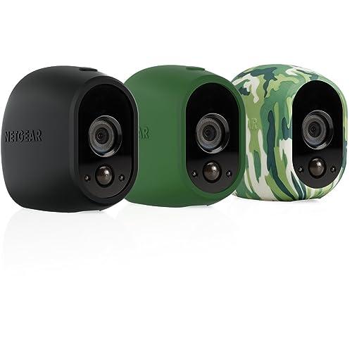 Accessoire Arlo - Pack de 3 Housses Camouflage Caméra pour Caméra Arlo (Noir, Vert, Camouflage) l VMA1200-10000S