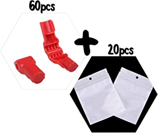 60 X 6mm Security Retail Store Stop Lock Magnetic Hook Anti-Theft Locks Display+20 Poly Bags 3X5 inches for Free. pegboard Wire, Slat Wall. Best Quality. Key not Included.