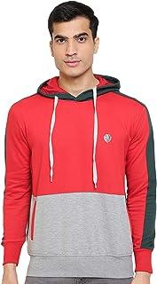 GHPC Color Block Sweatshirt Jacket Full Sleeves Slim Fit Hoodies For Men