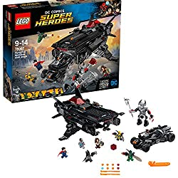 Build the Flying Fox and carry the batmobile into action alongside the Justice League As featured in the Justice League movie Includes Cyborg, Batman, Wonder Woman, Superman and two parademons minifigures, plus a Steppenwolf big figure LEGO DC Comics...