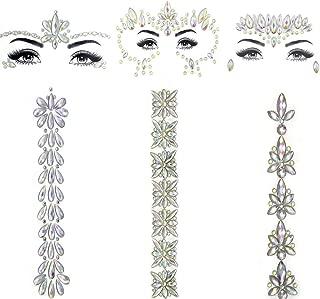 Glow in the Dark Face Gems Luminous Jewels Stickers Rhinestone ...