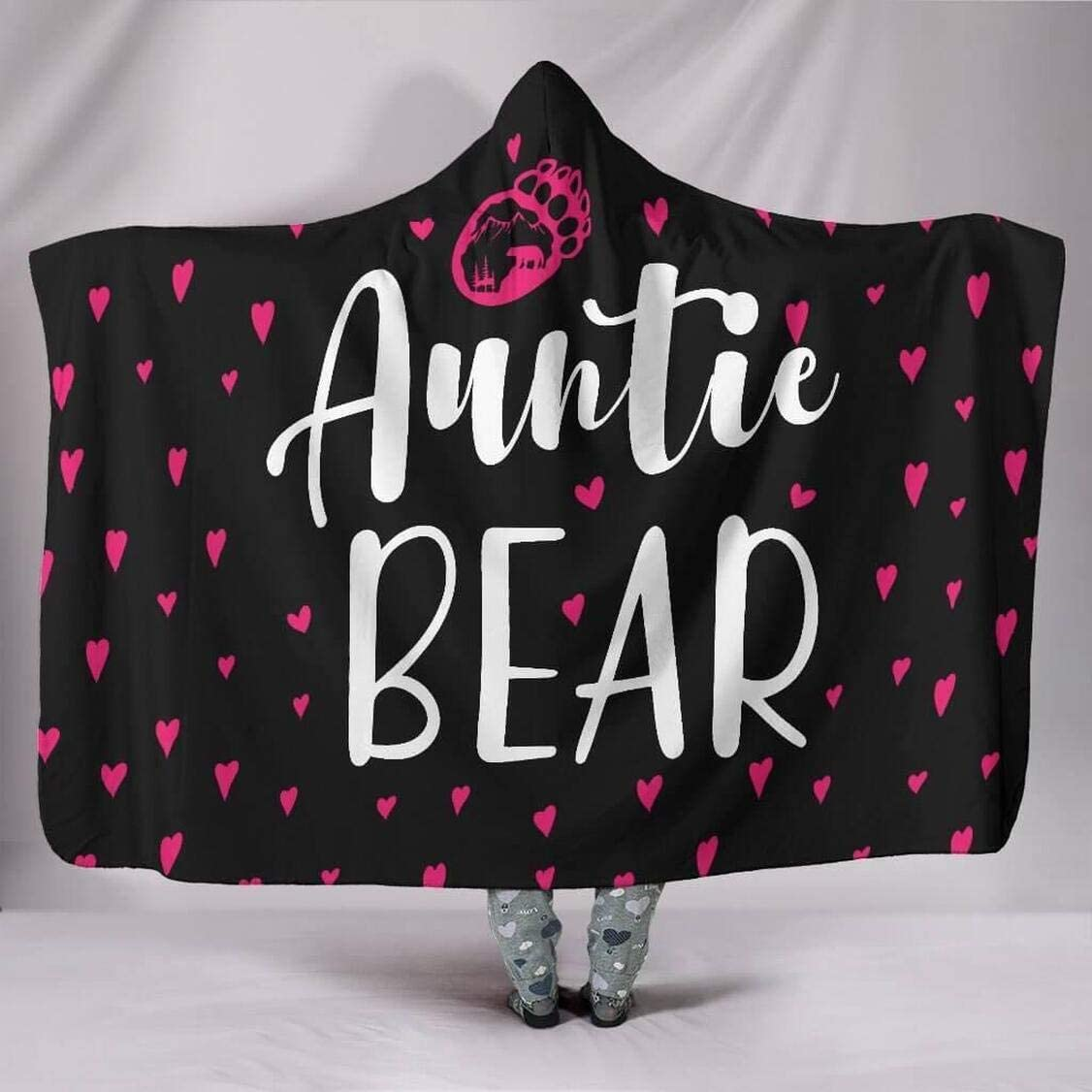 Personalized Auntie depot Bear Hooded Blanket Adu Hoodie for - discount
