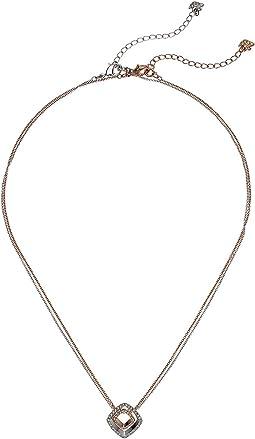 Lovesome Square Pendant Necklace