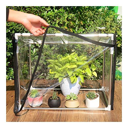 Greenhouses Cover Transparent Rainproof Dustproof Moisture Proof Portable Mini, 4 Sizes Gzhenh (Color : Clear, Size : 120x40x40-50cm)