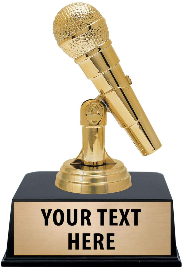 Crown Awards Microphone Engraving Personalized