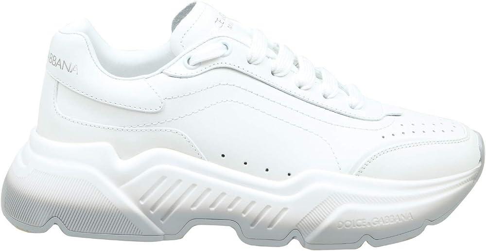 Dolce & gabbana luxury fashion, scarpe sneakers da donna, in pelle, bianche CK1791A106580001