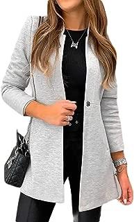 Womens Formal Slim Mandarin Collar Long Sleeve Blazer Jacket Suit Coat Outwears