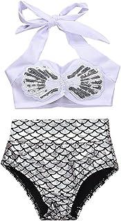Baby Girls Bikini Set 2Pcs Swimwear Swimsuit Bathing Crop Top Shorts Pants