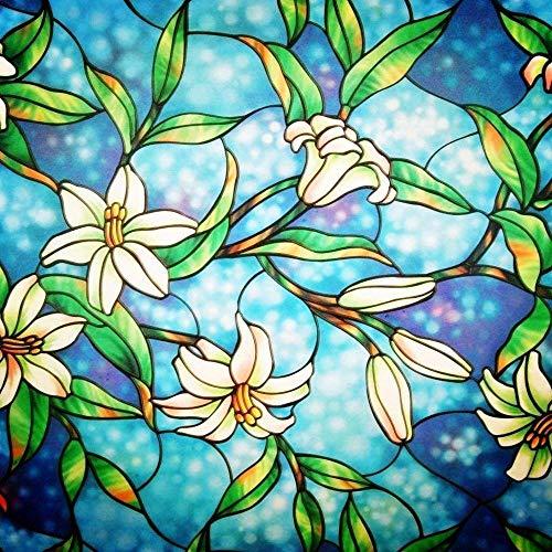 Pegatinas de Vidrio de Vinilo LUCKYYJ para decoración estática de Ventanas, Autoadhesivo, Bloqueo UV, Control de Calor, privacidad, Pegatina para Ventana de Vidrio A36 40x200cm